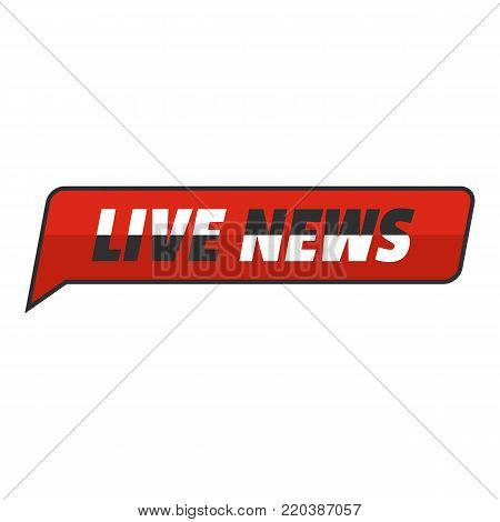 News icon. Flat illustration of news vector icon for web.