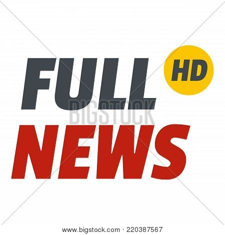 Full news icon. Flat illustration of full news vector icon for web.