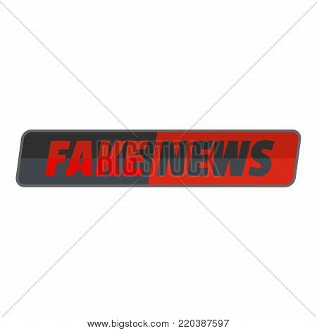 Fake news icon. Flat illustration of fake news vector icon for web.