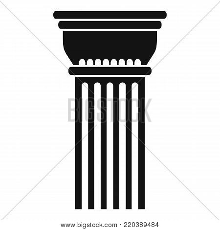 Building column icon. Simple illustration of building column vector icon for web.