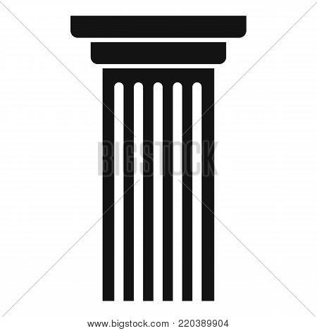 Italian column icon. Simple illustration of italian column vector icon for web.