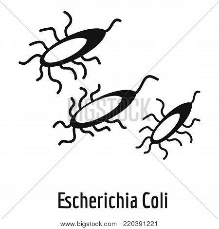 Escherichia Coli icon. Simple illustration of escherichia colin vector icon for web.