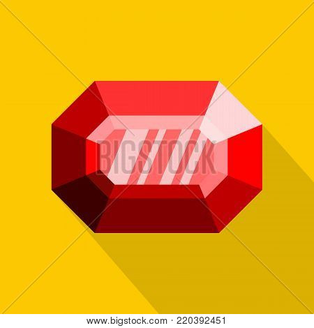 Faceted diamond icon. Flat illustration of faceted diamond vector icon for web.
