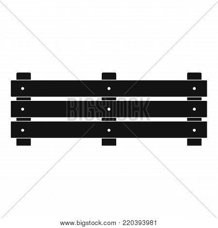 Wide fence icon. Simple illustration of wide fence vector icon for web.