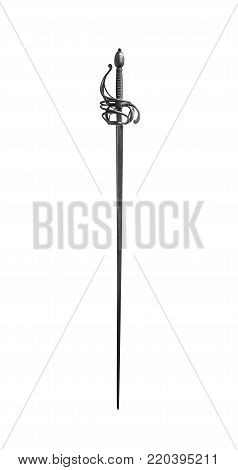 Knight's sword isolated on a white background.