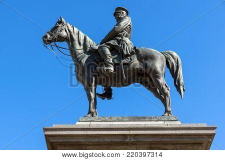 SOFIA, BULGARIA - APRIL 1, 2017: Monument to the Tsar Liberator in Sofia, Bulgaria