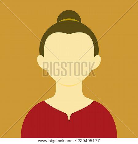 Mature Women Bond Hair Tie People Vector Illustration Graphic Design Background Color