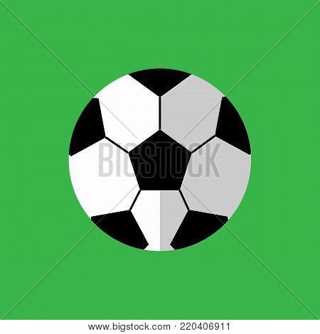 Simple Flat Style Football Sport Vector Illustration Graphic Design