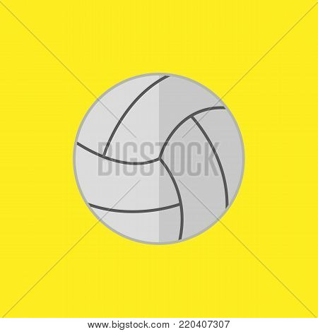 Simple Flat Style Volley Ball Sport Vector Illustration Graphic Design