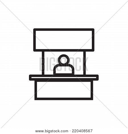 Sales booth icon Vector illustration flat style EPS10