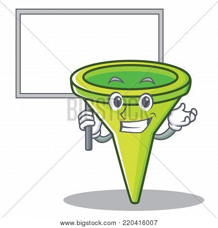 Bring board funnel character cartoon style vector illustration