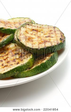 Grilled Zucchini On ? Plate