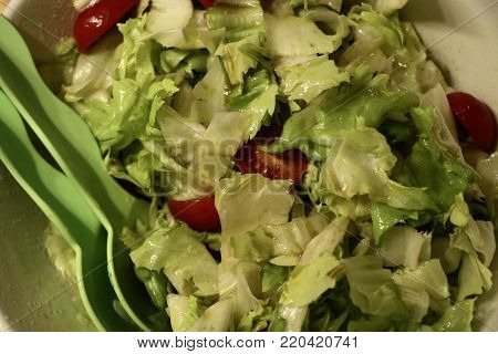 salad bown with italian dressing. Can be used for example for menu cards.