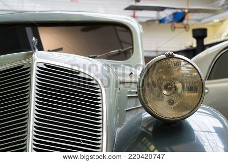 PRAGUE, CZECH REPUBLIC - NOVEMBER 10: Car Zbrojovka Z-5 Express from year 1936 stands in National technical museum on November 10, 2017 in Prague, Czech Republic.
