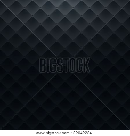 Dark blue square luxury pattern sofa texture background vector illustration