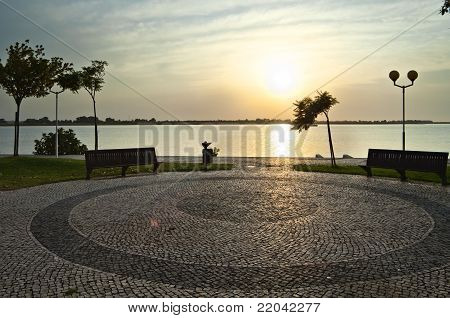 Sunrise Over Guadiana River