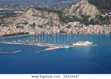 Aerial view on Zakynthos island Greece - Zante town