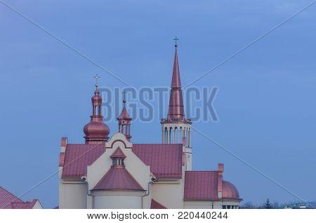 CHURCH - Evening over the Roman Catholic church
