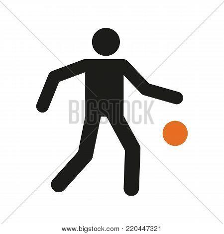 Simple Basketball Dribbling Sport Figure Symbol Vector Illustration Graphic Design