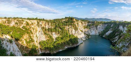 Mining and Grand Canal of Grand Canyon Chonburi Thailand, Landmark in Chonburi Thailand