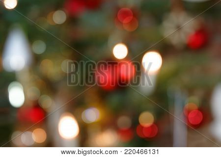 Blurred Background Concept Christmas Tree Decoration II