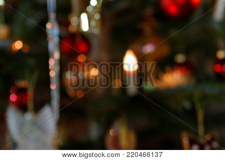 Blurred Background Concept Christmas of Tree Decoration