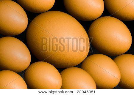 Natural background - hen eggs