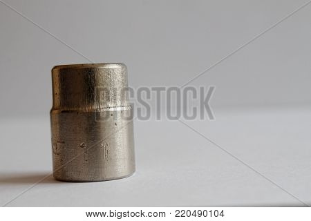 Torx Socket for spanner on white (studio) background, wrench sockets size is 11 poster