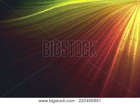 3D illustration. Colorful 3D embossed abstract background.