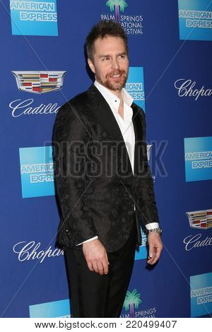 PALM SPRINGS - JAN 2:  Sam Rockwell at the 2018 Palm Springs International Film Festival Gala at Convention Center on January 2, 2018 in Palm Springs, CA