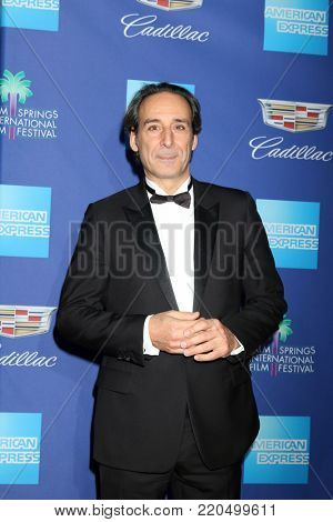 PALM SPRINGS - JAN 2:  Alexandre Desplat at the 2018 Palm Springs International Film Festival Gala at Convention Center on January 2, 2018 in Palm Springs, CA