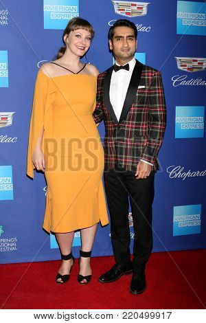 PALM SPRINGS - JAN 2:  Emily V Gordon, Kumail Nanjiani at the 2018 Palm Springs International Film Festival Gala at Convention Center on January 2, 2018 in Palm Springs, CA