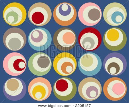 Retro Colorful Circle Design