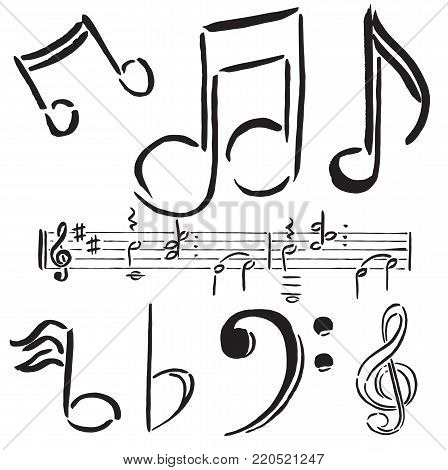 Musical Notes Treble Bass Music Fast Pace