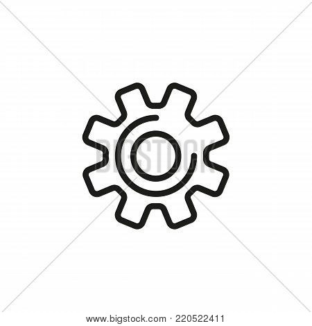 Icon of mechanical process. Gear wheel, cog, technical. Engineering concept. Can be used for topics like option, setting, service