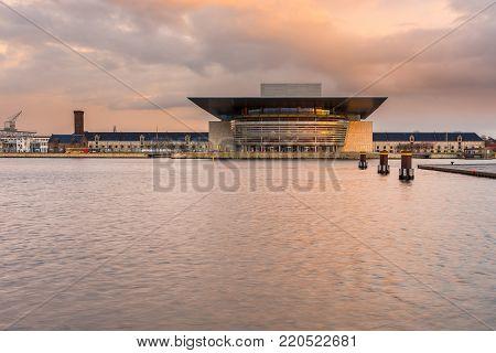 View Of The Copenhagen Opera House.
