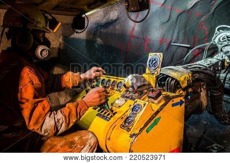 Mechanic of mining machines in the mine