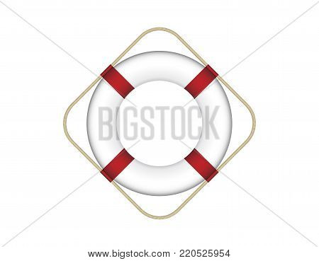 Emergency Lifebuoy Vector Illustration Isolated on White Background