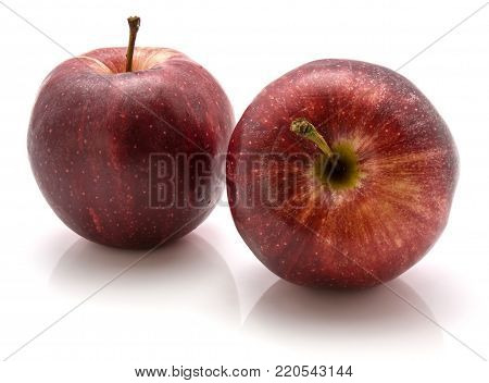 Two Gala apples isolated on white background