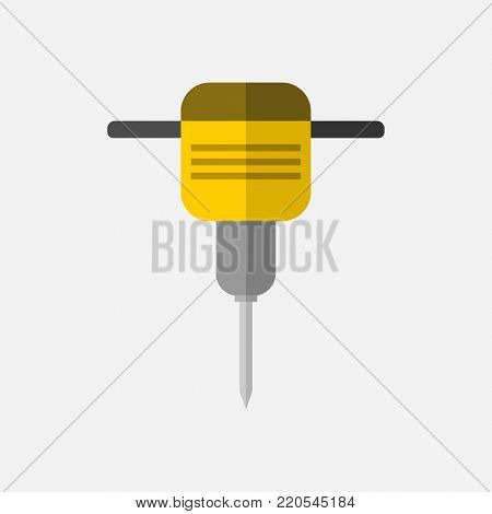 Electric Digger Tool Vector Illustration Graphic Design