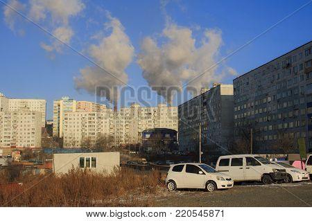 Winter Landscape of Vladivostok. Russia. Bay Quiet.