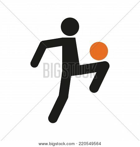 Simple Football Soccer Juggling Sport Figure Symbol Vector Illustration Graphic Design
