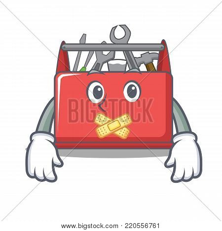 Silent tool box character cartoon vector illustration