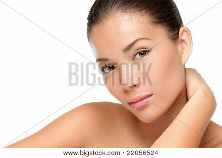 Mulher asiática beleza rosto