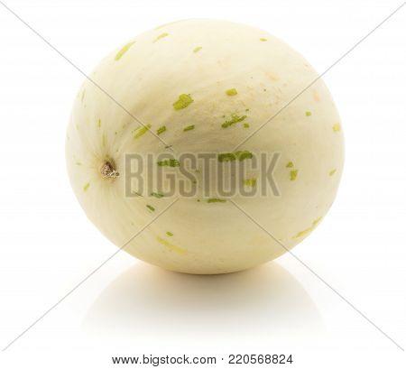 Melon (Piel de Sapo, Honeydew) isolated on white background one whole