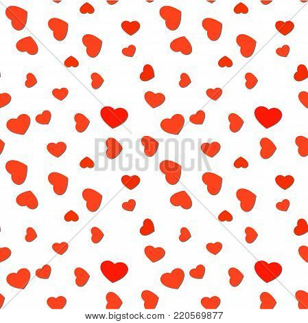 Bright Pink Fading Hearts Festive Background