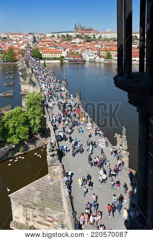 St. Vitus cathedral, Charles Bridge (UNESCO), Lesser Town, Prague, Czech Republic