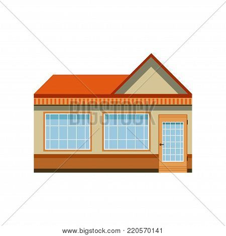 Store shop front window building, boutique with showcase vector Illustration on a white background