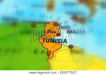 Tunisia, officially the Republic of Tunisia (selective focus)