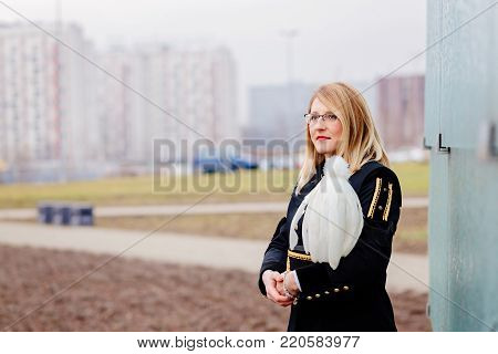 Working Woman Miner In Gala Parade Uniform.